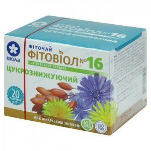 Сахароснижающий Фитовиол №16, фиточай, Виола, 20 пакетиков по 1.5 г