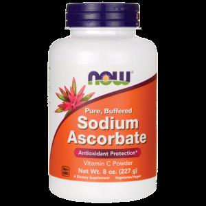 Аскорбат натрия, Sodium Ascorbate, Now Foods, 227 г