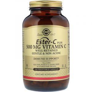 Витамин С сложноэфирный (Эстер С), Ester-C Plus Vitamin C, Solgar, 500 мг, 250 капсул (Default)