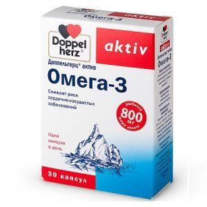 Омега-3, Доппельгерц  Актив, 300 мг, 30 капсул