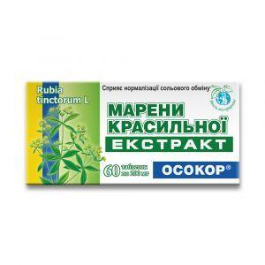 """Экстракт марены красильной """"Осокор"""" в таблетках, Красота и здоровье, 200 мг, 60 таблеток"""