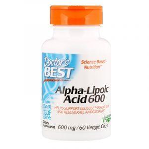 Альфа-липоевая кислота, Alpha-Lipoic Acid, Doctor's Best, 600 мг, 60 кап. (Default)