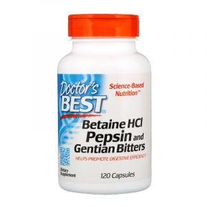Бетаин гидрохлорид + пепсин, Betaine HCL Pepsin, Doctor's Best, 120 капс. (Default)
