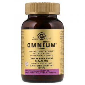 Омниум, мультивитамины и минералы, Omnium, Multiple Vitamin and Mineral, Solgar, 90 таблеток (Default)