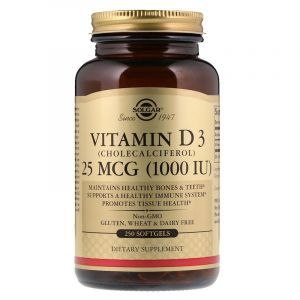 Витамин Д3, Vitamin D3, Solgar, 1000 МЕ, 250 капсул (Default)