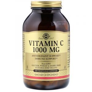 Витамин С, Vitamin C, Solgar, 1000 мг, 250 капсул (Default)