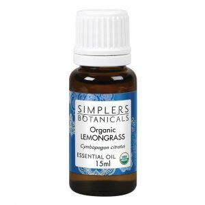 Эфирное масло лемонграсса, Organic Lemongrass, Simplers Botanicals, 15 мл