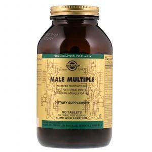 Витамины для мужчин (Male Multiple), Solgar, 180 таблеток (Default)