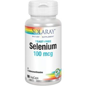 Селен без дрожжей, Selenium, Solaray, 100 мкг, 90 вегетарианских капсул