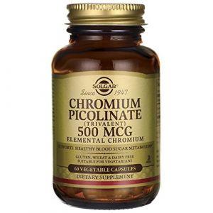 Хром пиколинат, Chromium Picolinate, Solgar, 500 мкг, 60 капсул (Default)