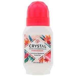 Кристал дезодорант для тіла, Deodorant Roll-On, Crystal Body Deodorant, гранат, 66 мл