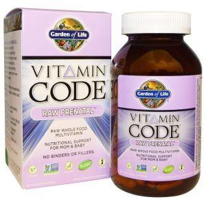 Сырые витамины для беременных, Raw Prenatal, Garden of Life, 180 капсул (Default)