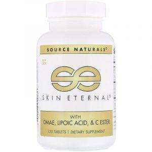 Здоровье кожи с DMAE+Альфа-липоевой кислотой, Skin Eternal, Source Naturals, 120 таблеток (Default)