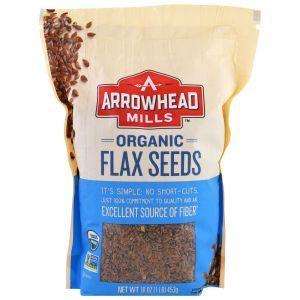 Семена льна, Flax Seeds, Arrowhead Mills, органик, 453 г (Default)