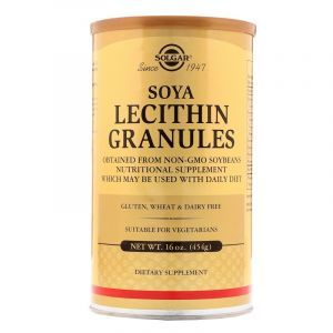 Лецитин, Lecithin, Solgar, гранулы, 454 г (Default)