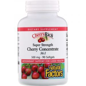 Экстракт дикой вишни (Cherry Concentrate), Natural Factors, 500 мг, 90 капсул (Default)