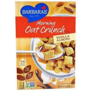 Сухой завтрак, ваниль и миндаль, Morning Oat Crunch Cereal, Barbara's Bakery, 397 г