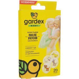 Пластырь после укусов насекомых, Gardex Baby, для детей, 20 шт