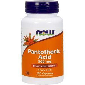 Пантотеновая кислота, Pantothenic Acid, Now Foods, 500 мг, 100 капсул