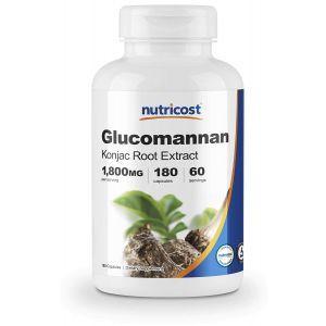 Глюкоманнан, Glucomannan, Nutricost, 1800 мг, 180 капсул