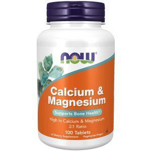 Кальций и магний, Calcium & Magnesium  2:1, Now Foods, 500/250 мг, 100 таблеток