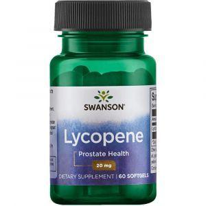 Ликопин, здоровье простаты, Lycopene, Swanson, 20 мг, 60 гелевых капсул