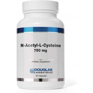 N-ацетил-L-цистеин, N-Acetyl-L-Cysteine, Douglas Laboratories, 750 мг., 90 капсул