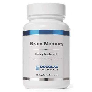 Поддержка мозга, память, смесь питательных веществ, Brain Memory, Douglas Laboratories, 60 капсул