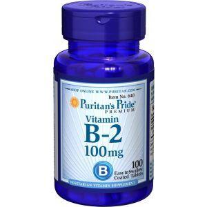 Puritan's Pride, Vitamin B-2 (Riboflavin) 100 mg