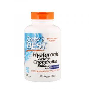 Гиалуроновая кислота и хондроитин, Hyaluronic Acid, Doctor's Best, 180 кап. (Default)