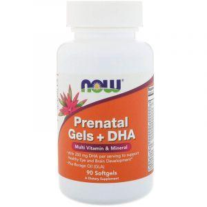Витамины для беременных с рыбьим жиром, Prenatal Multiple Vitamin, Now Foods, 90 капсул (Default)