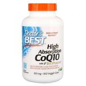 Коэнзим CoQ10 с биоперином, CoQ10 with BioPerine, Doctor's Best, 100 мг, 360 капсул (Default)