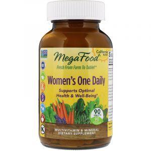 Витамины для женщин, Women's Multivitamin Mineral, MegaFood, 1 в день, 90 таблеток (Default)