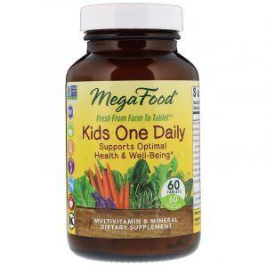 Витамины для детей, Kid's One Daily, MegaFood, 1 в день, 60 таблеток (Default)