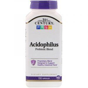 Пробиотики, Acidophilus Probiotic, 21st Century, 150 капсул (Default)