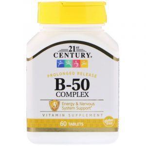 Витамины В-50 комплекс, Complex, 21st Century, 60 таблеток (Default)