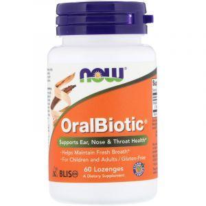 Пробиотики (орал), OralBiotic, Now Foods, 60 таблеток для рассасывания (Default)
