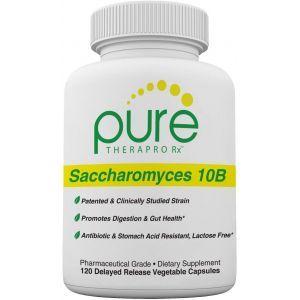 Сахаромицеты буларди, Saccharomyces 10 B, PURE Therapro Rx, пробиотические дрожжи, 10 млрд.КОЕ, 120 вегетарианских капсул