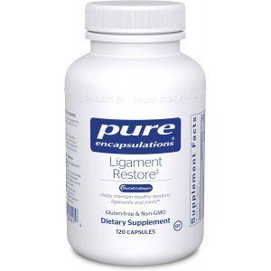 Поддержка в здоровом состоянии сухожилий, связок и суставов, Ligament Restore, Pure Encapsulations, 120 капсул
