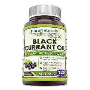 Масло черной смородины, Black Currant Oil, Pure Naturals, 500 мг, 120 гелевых капсул
