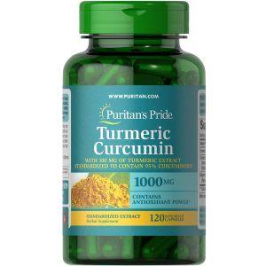 Куркумин и биоперин, Turmeric Curcumin with Bioperine 5 mg, Puritan's Pride, 1000 мг, 120 капсул