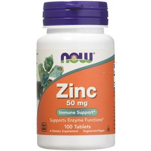 Now Foods, Zinc, 50 mg, 100 Tablets