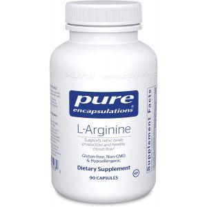 L-аргинин, l-Arginine, Pure Encapsulations, 90 капсул