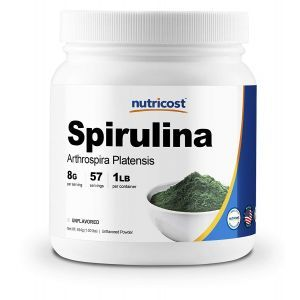 Спирулина, Spirulina, Nutricost, порошок, 454 г