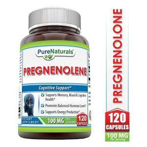 Прегненолон, Pregnenolone, Pure Naturals, 100 мг, 120 капсул