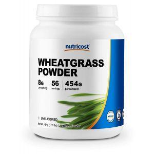 Ростки пшеницы, Wheatgrass, Nutricost, порошок, 454 г
