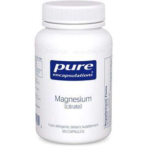 Магний (цитрат), Magnesium (citrate), Pure Encapsulations, 90 капсул