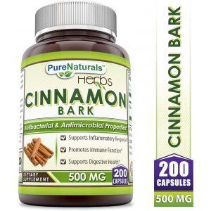 Кора корицы, Cinnamon Bark, Pure Naturals, 500 мг, 200 капсул