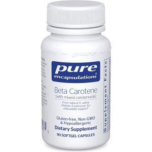 Бета-каротин (зі змішаними каротиноидами), Beta Carotene, Pure Encapsulations, 90 капсул