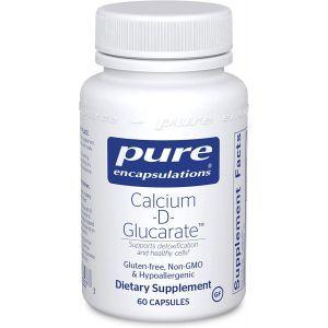 Кальций-D-Глюкарат, Calcium-D-Glucarate, Pure Encapsulations, 60 капсул